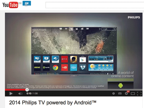 Philips: UHD-TV mit Android