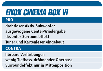 Enox Cinema Box VI - Soundbar für 500 €