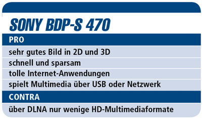 Sony BDP-S 470 - Blu-ray-Player für 230 €