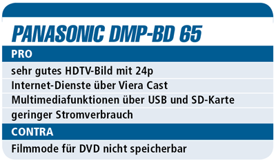 Panasonic DMR-BS 850 – Blu-ray-Player für 1.300 €