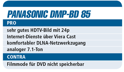 Panasonic DMP-BD85 - Blu-ray-Player für 350 €