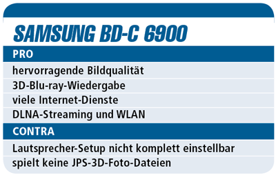 Samsung BD-C 6900 - 3D-Blu-ray-Player für 400 €