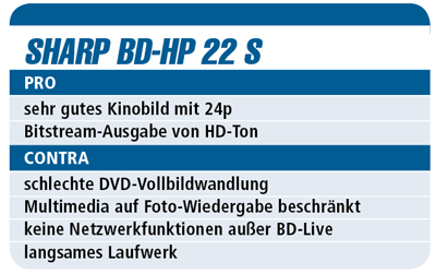 Sharp BD-HP 22 S - Blu-ray-Player für 280 €