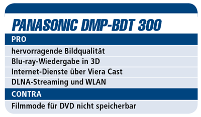 Panasonic DMP-BDT 300 - 3D-Blu-ray-Player für 500 €