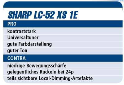 Test Sharp LC-52 XS 1E - LED-TV für 9.000 €