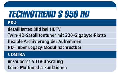 Test Technotrend Görler TT-Select S950 HD PVR - HDTV-Settop-Box für 460 €