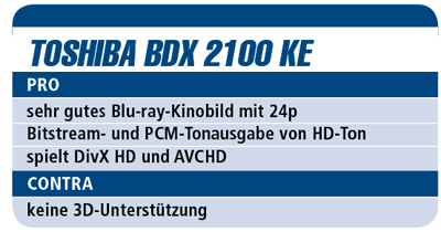 Toshiba BDX 2100 KE - Blu-ray-Player für 200 €
