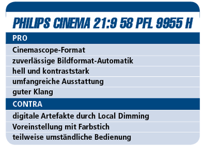 Philips Cinema 21:9 58 PFL 9955 H - LED-TV für 4.200 €