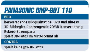 Panasonic DMP-BDT 110 - Blu-ray-Player für 200 €