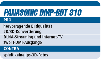 Panasonic DMP-BDT 310 - Blu-ray-Player für 300 €