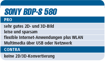 Sony BDP-S 580 - Blu-ray-Player für 220 €