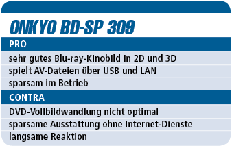 Onkyo BD-SP 309 - Blu-ray-Player für 300 €