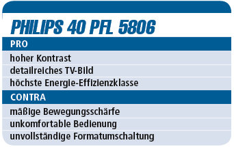 Philips 40 PFL 5806 - LED-TV für 900 €
