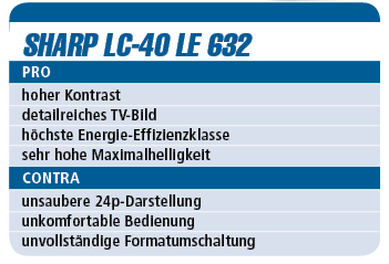 Sharp LC-40 LE 632 - LED-TV für 900 €