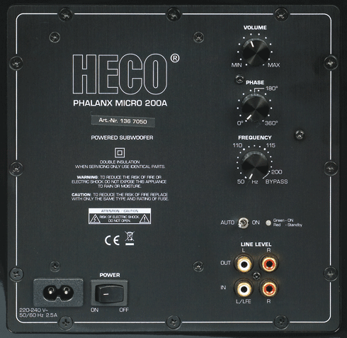 Heco Phalanx Micro 200 A - Subwoofer für 550 €