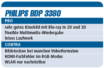 Philips BDP 3380 - Blu-ray-Player für 140 €