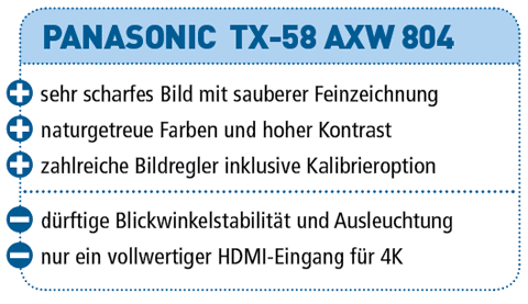 Panasonic TX-58 AXW 804 – 3D-LED-TV für 3.300 €
