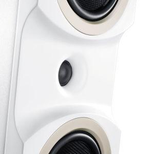 Durch die spezielle Form der Boxen-Fronten hat das Time Alignment keine negativen Auswirkungen auf den Frequenzgang.