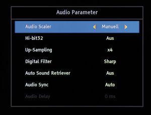Anpassbarer Analog-Ton: Das DAC-Filter lässt sich umschalten, womit sich der Klang bei analoger Audio-Ausgabe optimieren lässt.