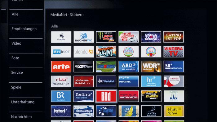 B-Ware: Das MediaNet-Portal aus dem Hause NetRange (MMH) hat einige Apps im Gepäck, von denen wir noch nie gehört haben. Wichtige Online-Videotheken fehlen.