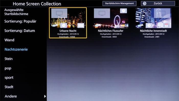 Home Screen Collection: Wem der schlicht gehaltene Startbildschirm nicht zusagt, kann auf peppige Hintergründe aus verschiedenen Kategorien zurückgreifen.