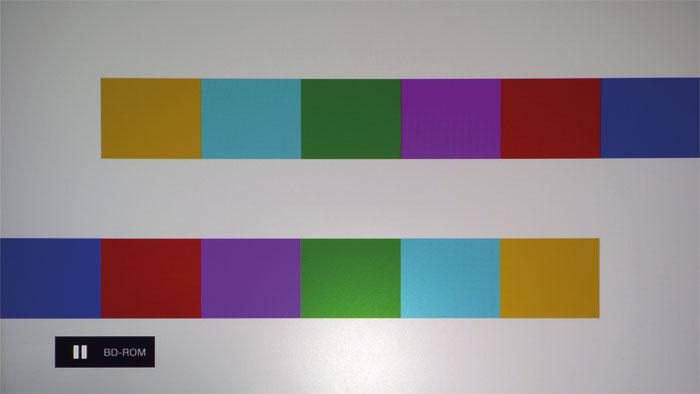 Düster und farblos: Nebenwirkung der Brilliant-Color-Schaltung sind untersättigte und unnatürliche Farben. Ohne sie treten allerdings diverse andere Bildfehler auf.