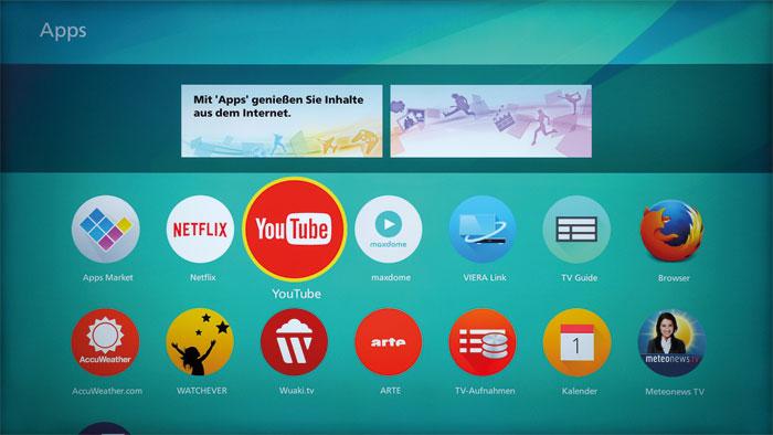 Angebot mit Lücken: Das App-Portal ist aufgeräumt, lässt aber Amazon Instant Video vermissen. Netflix und YouTube waren zum Testzeitpunkt nicht verfügbar.