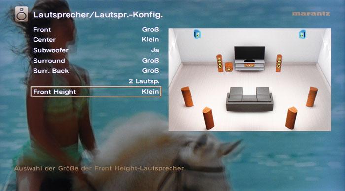 Ansehnlich: Das Bildschirmmenü überlagert sich transparent dem eingehenden Videobild.
