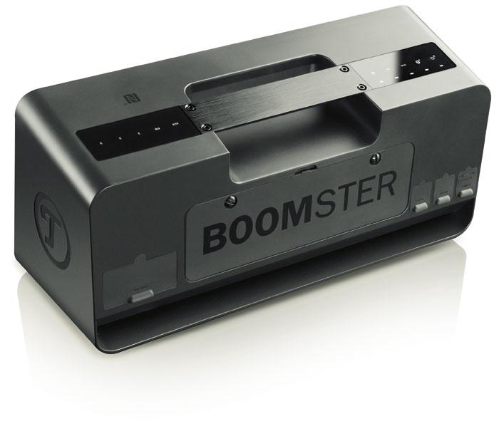 Mit bündig eingelassenem Griff und Sensor-Tasten bietet der Boomster eine erfrischend neue und edle Optik.