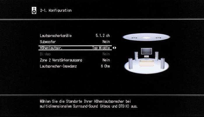 Sinnvoll: Die Grafik zeigt auf einen Blick, welche Boxen-Konfiguration der Nutzer eingestellt hat.