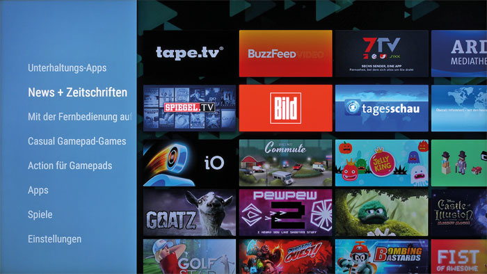 Alles, was man braucht: Der Google Play Store des Sony-Fernsehers ist im Vergleich zu Smartphones zwar abgespeckt, beinhaltet aber trotzdem unzählige Apps.