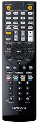 Onkyo TX-NR 646: Für alle wichtigen Funktionen gibt es eine eigene Taste, allerdings ist die Beschriftung etwas klein.