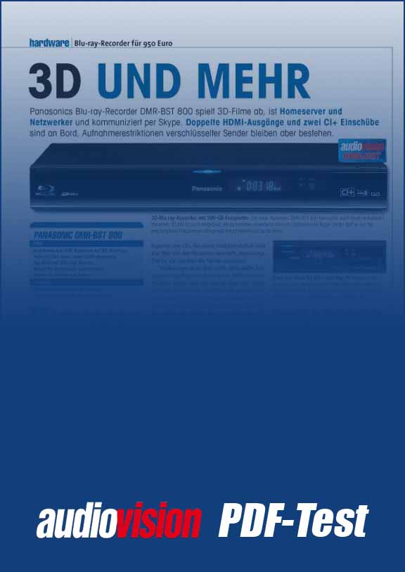 Panasonic DMR-BST 800 (audiovision 10/2011) – audiovision