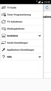 """Die App """"Panasonic Media Center"""" verbindet sich mit dem Recorder weltweit über das Internet."""