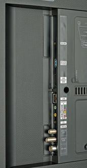 Teilzeit-Job: Während die One-Connect-Box Mini HDMI-Signale entgegennimmt, kümmert sich der Fernseher um den digitalen TV-Empfang.