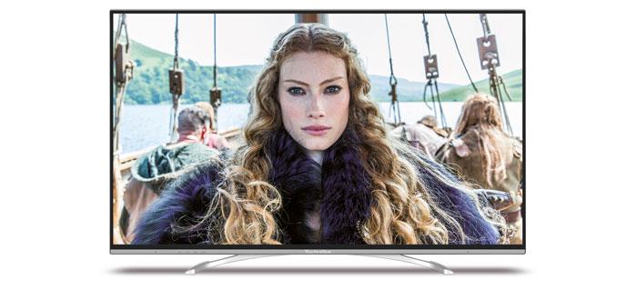 2.400 Euro: Der Technitwin ISIO 55 beherrscht als erster Technisat-Fernseher die vierfache Full-HD-Auflösung; neben den Geschwistern im 42-, 50- und 65-Zoll-Format. Die Modellreihe zeichnet sich durch eine gute TV-Aussttatung aus.