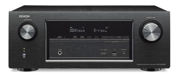 DenonAVR-X3200WSchwarzmitFernbedienungundMikrofon