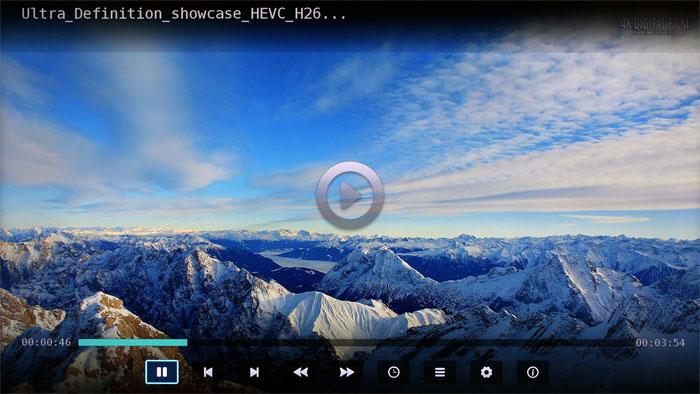 Ungeahnte Fähigkeiten: Der Mediaplayer des Hisense LTDN 50 K 321 überrascht mit einer breiten Formatunterstützung, auch Ultra-HD-Videos stellen kein Problem dar.