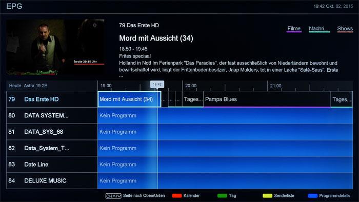 Was soll das? Die alphabetische Sendersortierung des Hisense-Tuners ist alles andere als praxisgerecht. Ferner sind TV-Aufnahmen nur über den EPG programmierbar.