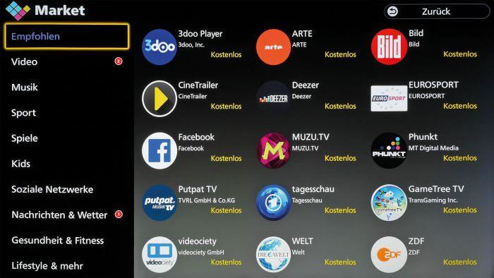 Firefox sei Dank: Das neue Betriebssystem brilliert mit einfacher Bedienung und praktischen Smart-TV-Features. Im Market stehen zahlreiche Apps zum Download bereit.
