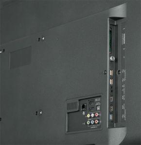 Halb und halb: Zwei von vier HDMI-Eingängen beherrschen den aktuellen 2.0-Standard. Die Rückseite an sich wirkt aufgeräumt und lässt keine wichtigen Anschlüsse vermissen.