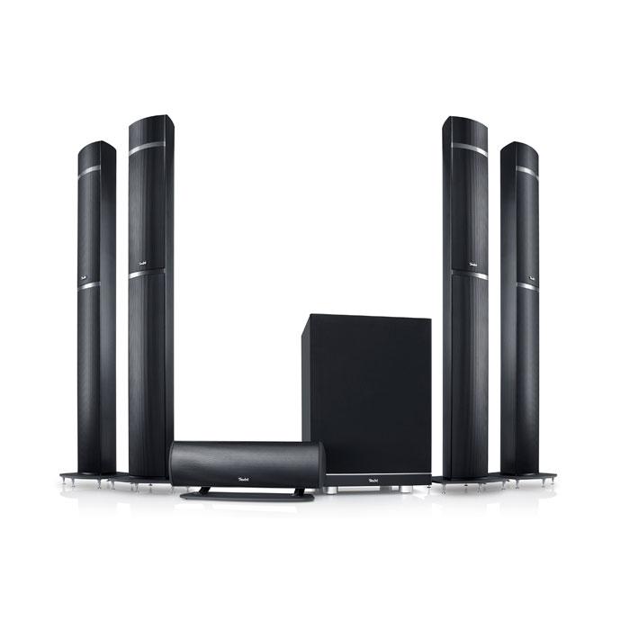 Schlankes Understatement: Teufel beweist mit seinem LT 5-Atmos-Set, dass designorientierte Lautsprecher richtig gut klingen können. Die Aluminium-Säulen sind zudem richtig wertig verarbeitet.