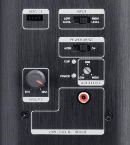 Für das Atmos-Chassis integrierte Teufel eine eigene Endstufe in die Front- und Surroundbox. So lässt sich auch bei Receivern ohne genügend eigene Endverstärker Atmos komplett nutzen.