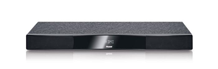 400 Euro: Das fünfstellige Display des Magnat-Sounddecks erleichtert die Bedienung. Die 70 Zentimeter breite Box bietet Platz für bis zu 40 Kilo schwere Fernseher und erlaubt auch Bluetooth-Streaming.