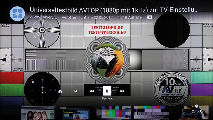 Längst überholt: YouTube-Freunde müssen sich beim 65 XT 910 mit 720p-Qualität begnügen, während die Fernseher der Konkurrenz die volle Auflösung nutzen.