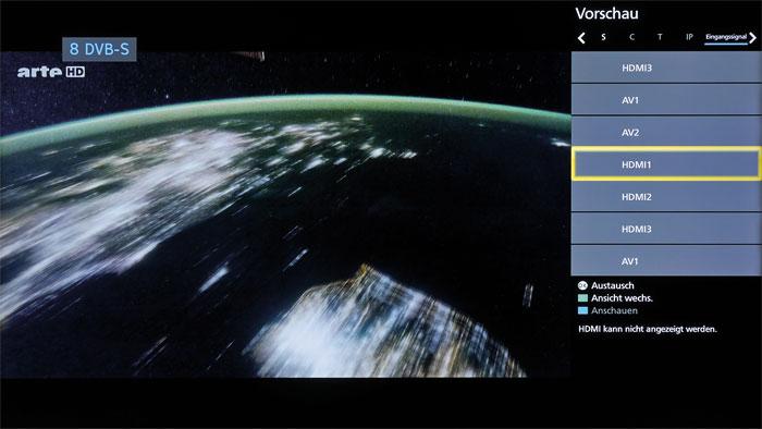 Jedem das Seine: Die Multi-Window-Funktion erlaubt die gleichzeitige Darstellung zweier Quellen. So lässt sich während eines Films etwa ein Fußballspiel verfolgen.
