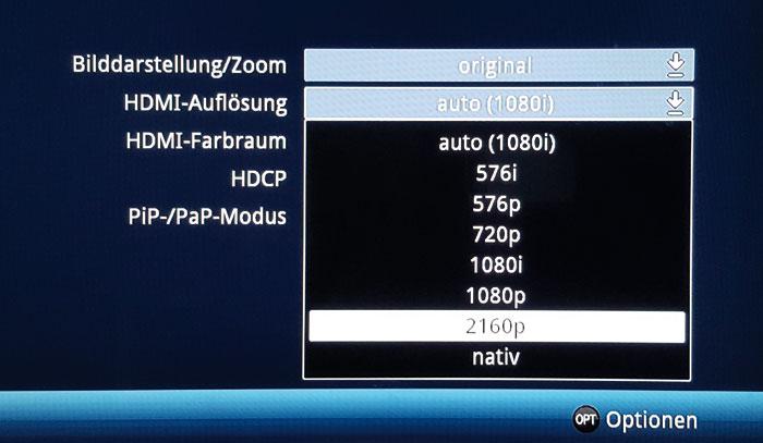 Der Technisat DIGIT ISIO STC+ skaliert SD- und HD-Signale auf eine maximale Auflösung von 2.160p.