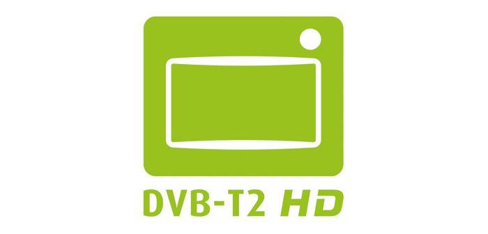 TV-Geräte mit diesem Logo unterstützen DVB-T2 HD