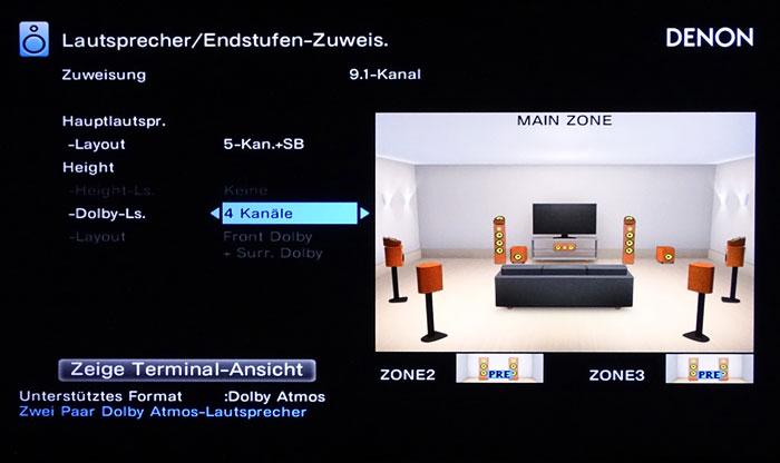 Dolby Enabled Speaker: Bei vier Aufsatzboxen sollen diese vorn und auf den Surrounds platziert werden.