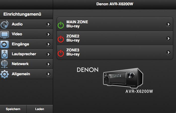 Über das Web-Browser-Menü lässt sich der Denon AVR-X6200W komplett einrichten und steuern.